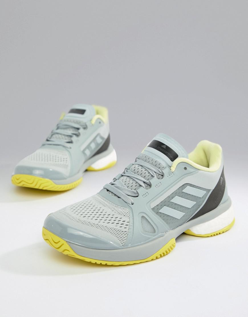 9ac8992eab1f73 adidas Stella Mccartney Barricade Boost Tennis Sneakers in Gray - Lyst