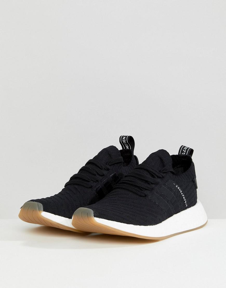 0d5817c3149156 Lyst - adidas Originals Nmd R2 Primeknit Sneakers In Black By9696 in ...
