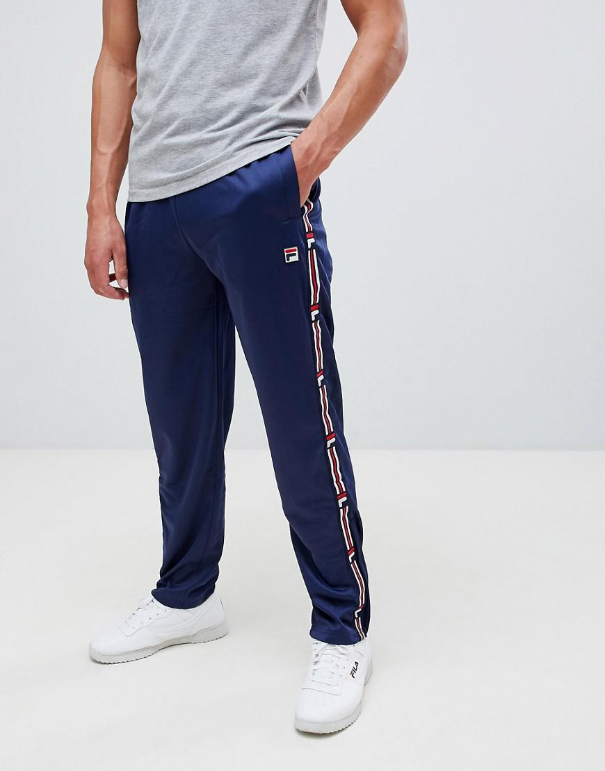 8f819cd70dea0 Fila White Line Sweatpants With Taping In Navy in Blue for Men - Lyst