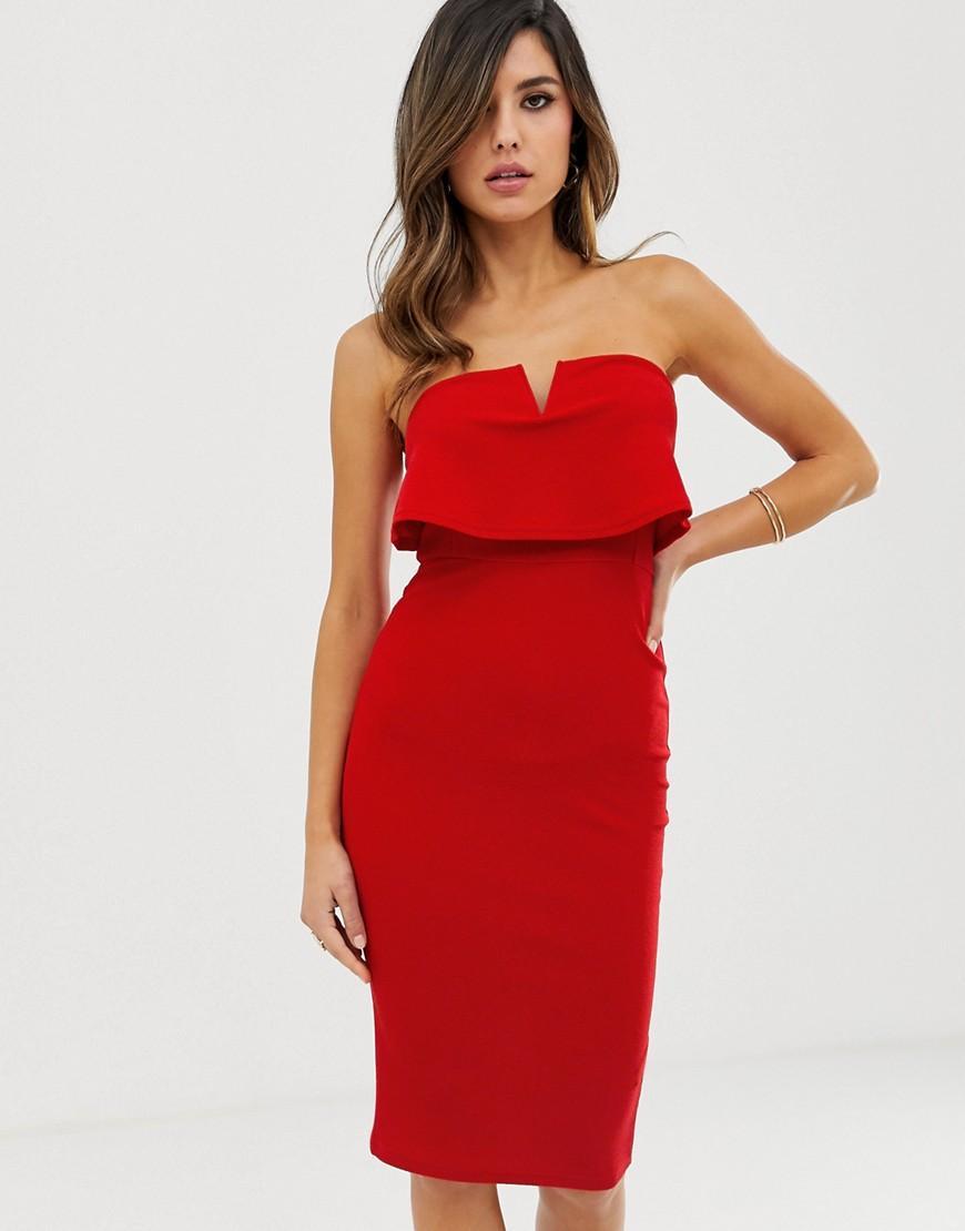Ax paris red bodycon dress for women carpet
