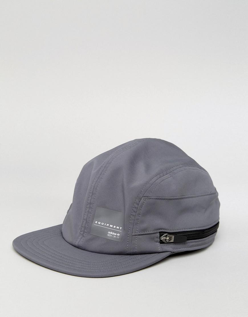 adidas Originals Eqt 4 Panel Cap In Grey Cd6952 in Gray for Men - Lyst 66f1fab8e5a7