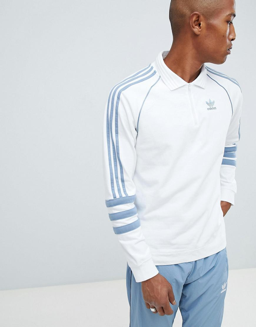 51085ab311a adidas Originals Authentic Rugby Top In White Dh3844 in White for ...