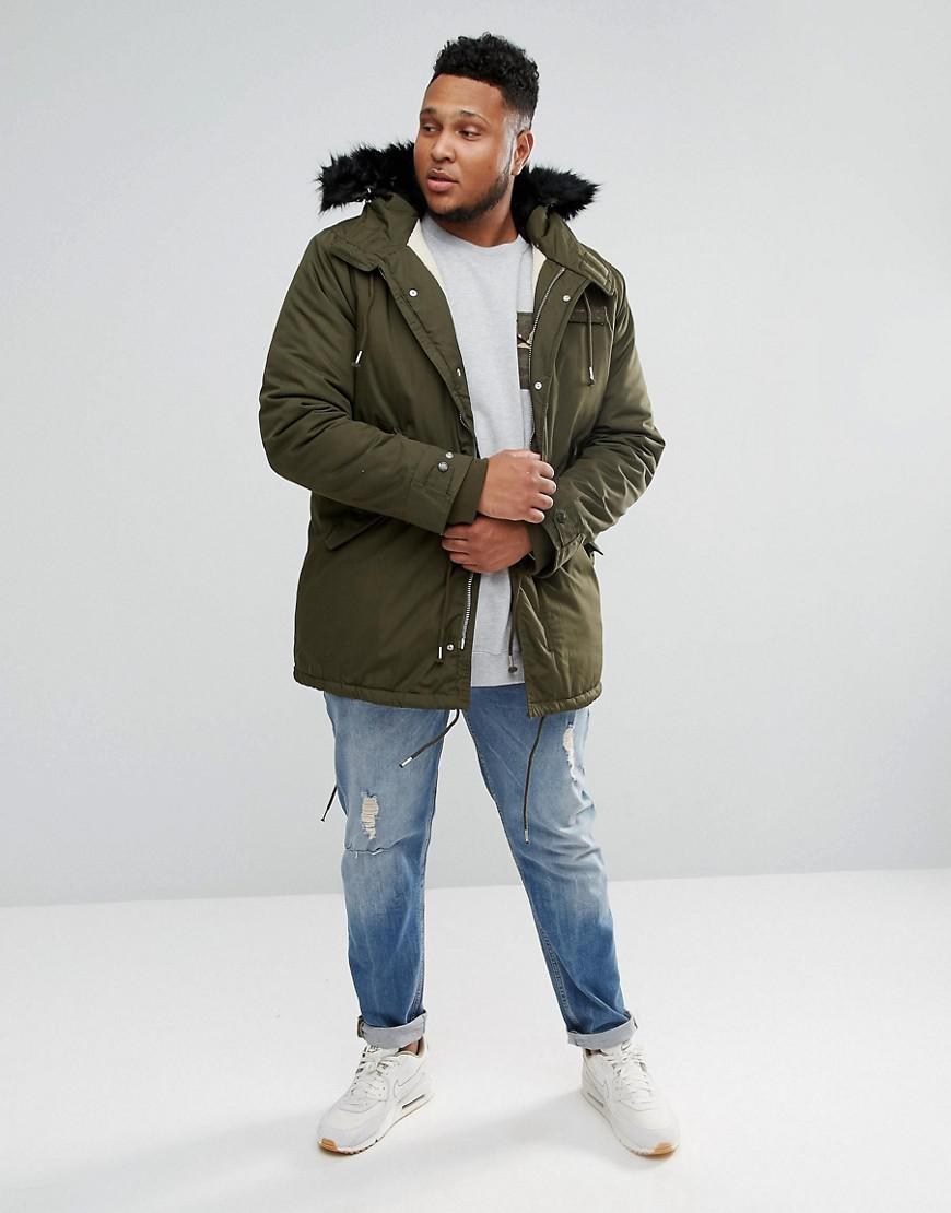 Schott nyc Plus M51 Fishtail Parka Hooded Detachable Faux Fur Trim ...