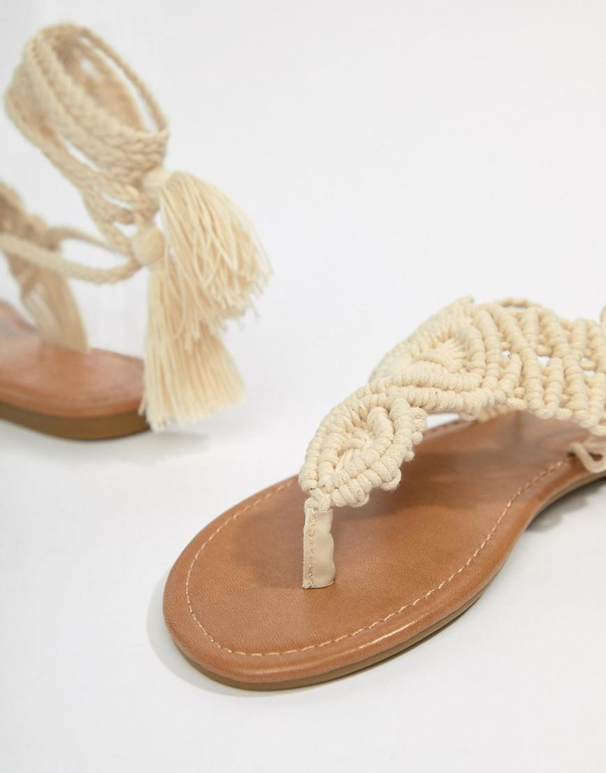Park Lane Parklane Crochet Tie Leg Sandals kKwAwDenv