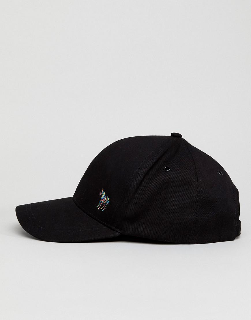 c8638c755b05b PS by Paul Smith Zebra Logo Baseball Cap In Black in Black for Men ...