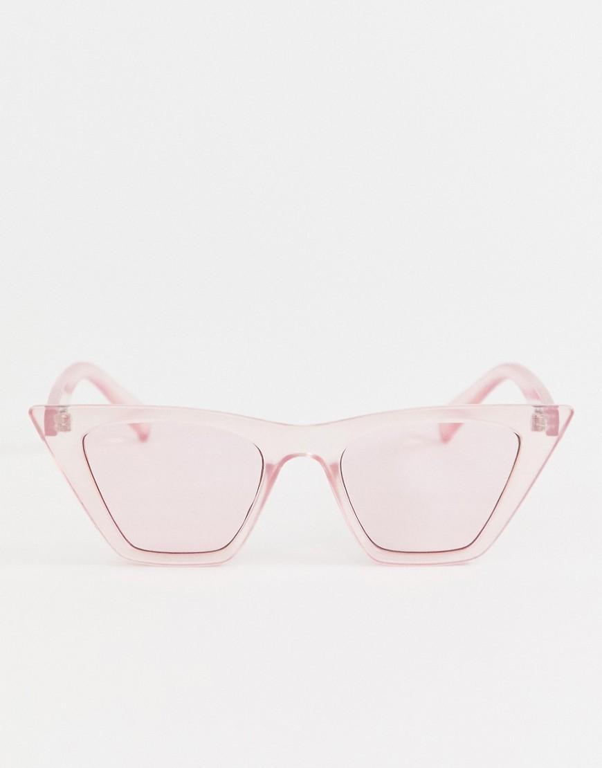 9cbbe33d2b Gafas de sol con montura de cristal rosa y lentes rosas de ASOS de ...