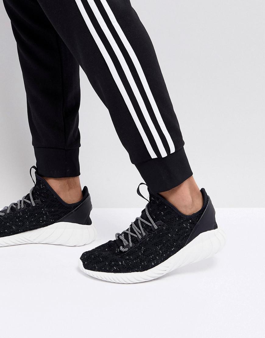 aa75451ef8dd adidas Originals Tubular Doom Sock Primeknit Trainers In Black ...