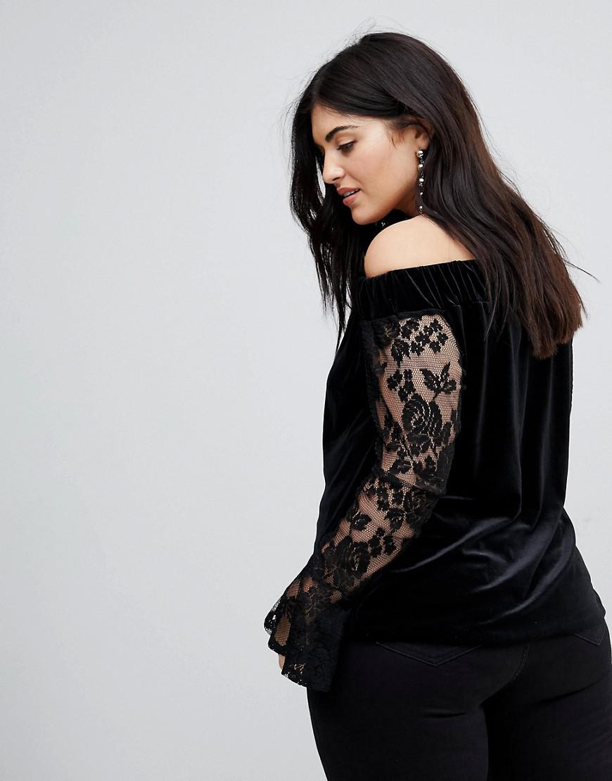 d4590fe3 missguided-designer-Black-Lace-Sleeve-Bardot-Cut-out-Velvet-Top.jpeg
