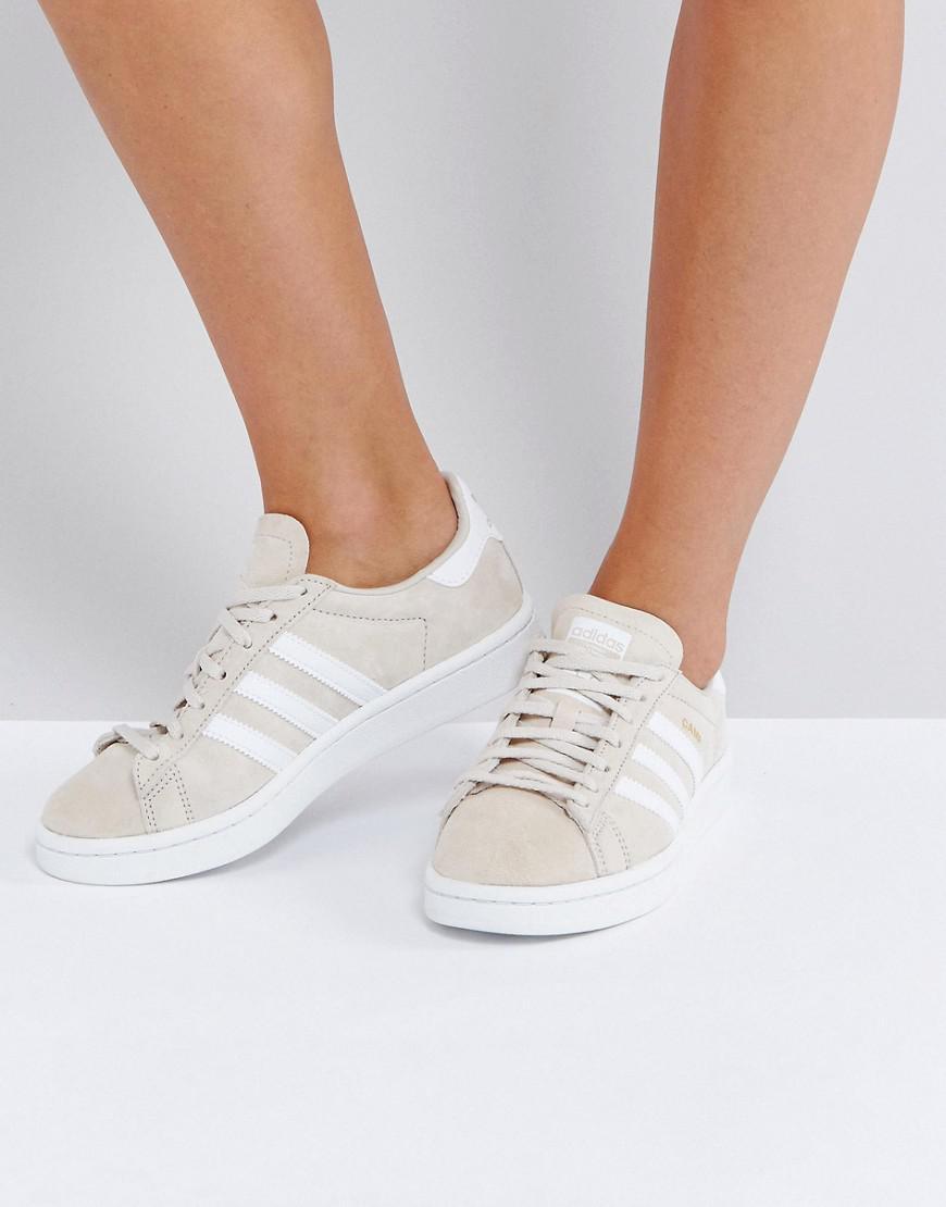 Originals Adidas Natural Campus In Sneaker Cream Lyst JT1c3lFK