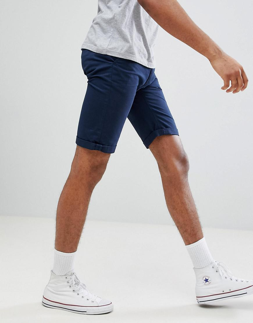 TALL Chino Shorts In Navy - Navy Bellfield yTRXR