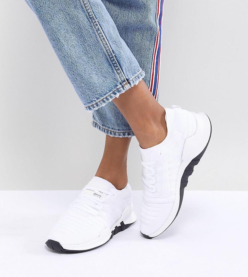 hot sales cb116 c94ac adidas Originals Eqt Racing Adv Primeknit Sneakers In White