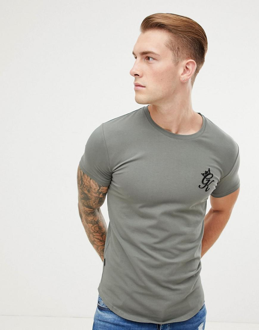 2a125dd76 Gym King Longline Fitted T-shirt In Castor Grey in Gray for Men - Lyst