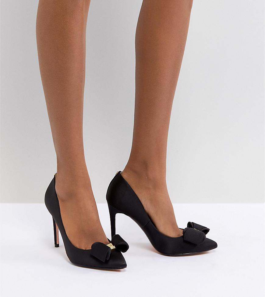 274fb0dea48 Lyst - Ted Baker Azeline Heeled Bow Shoe in Black