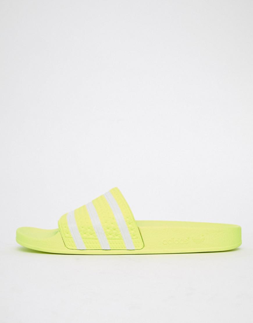 3344e635a adidas Originals Adilette Sliders In Yellow B37957 in Yellow for Men - Lyst