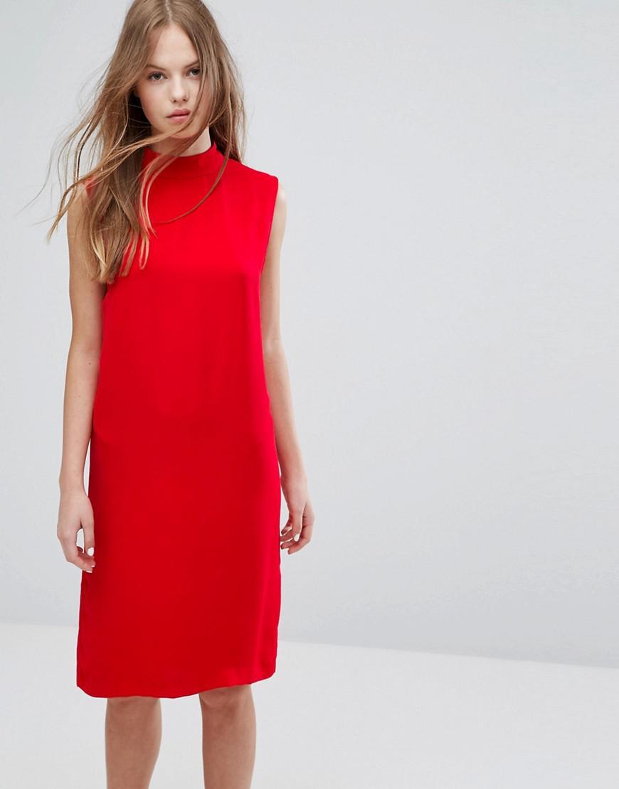 85b148ebf64a Lyst - Samsøe   Samsøe Samsoe   Samsoe Theta T N Dress in Red