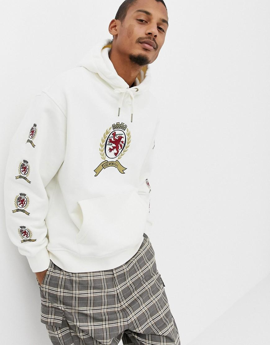 86936c392de Tommy Hilfiger. Men s 6.0 Limited Capsule Hoodie With Repeat Crest Logo In  White