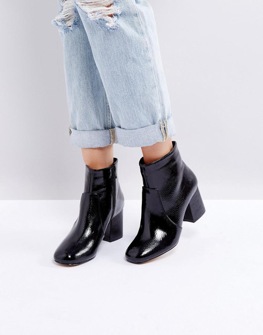Block Heeled Ankle Boot - Black Oasis ILHsiecw