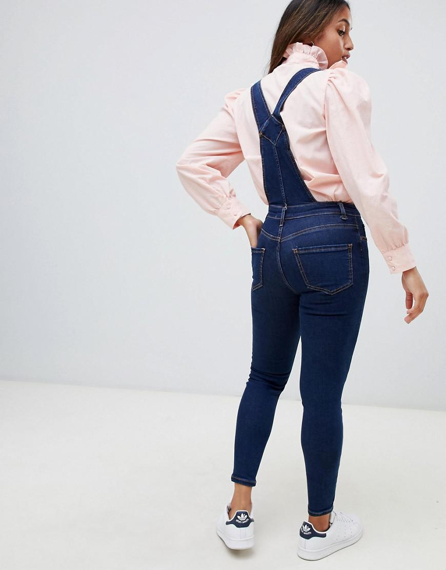 fc6cc3f385 Lyst - New Look Skinny Fit Overalls In Blue in Blue