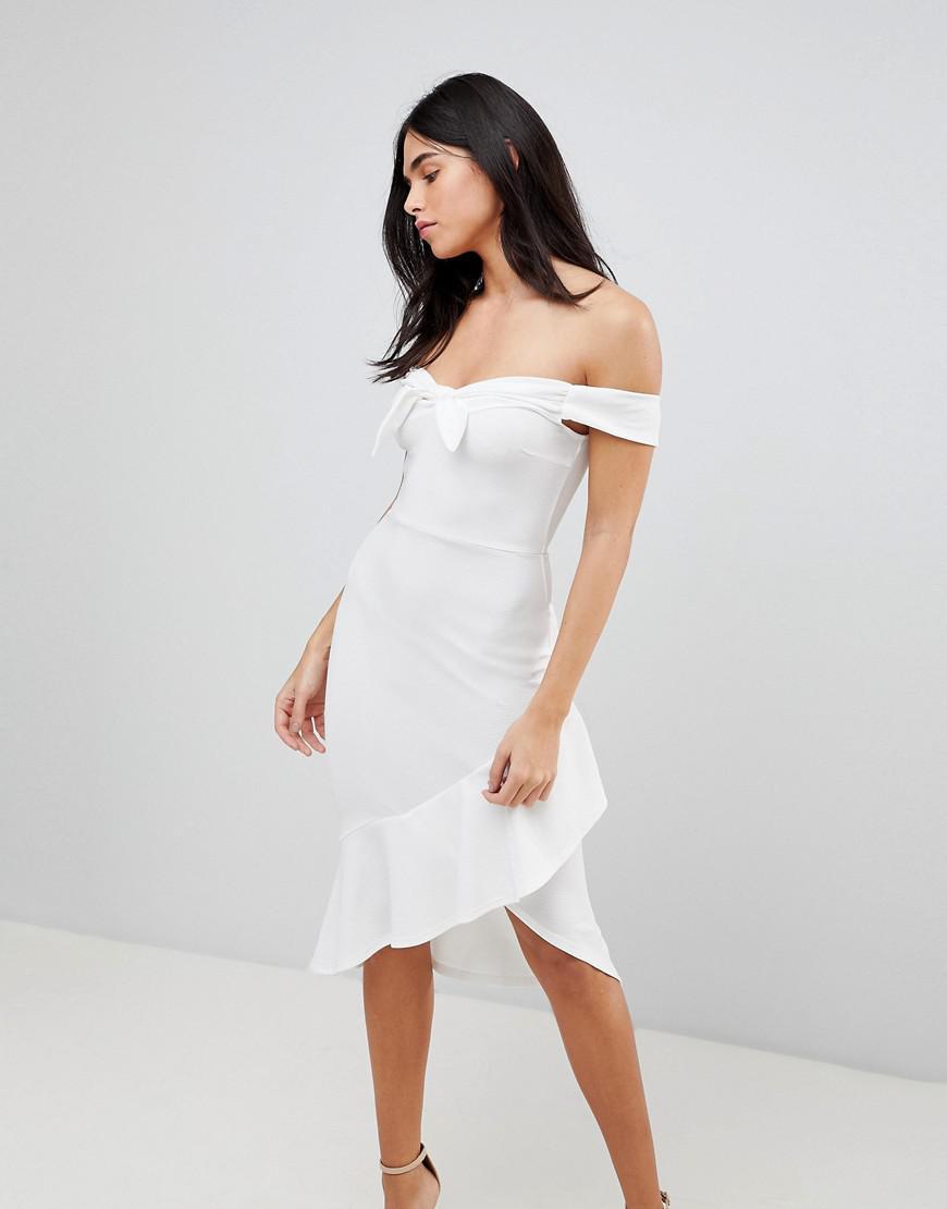 3e51ed7f529 AX Paris. Women s Off Shoulder Bodycon Dress With Frill