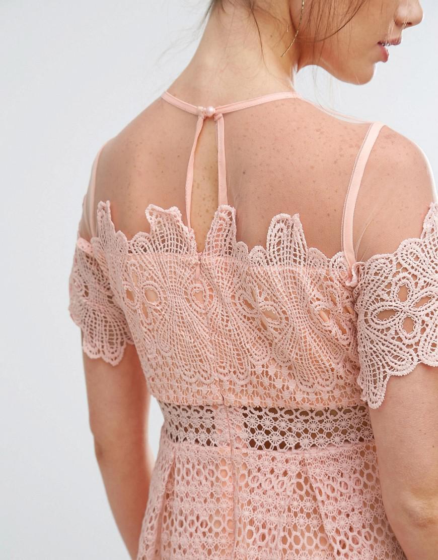 a0ddb9555989 Boohoo Lace Midi Dress Asos | Saddha