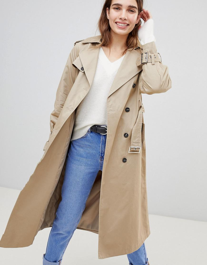 a86eb7be1061 Oversize Coat New Neutre Trench Lyst Look Coloris En UO4FFw