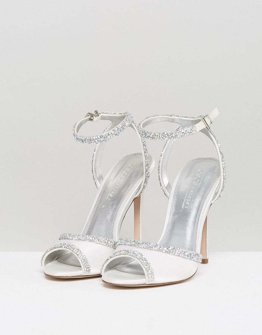662533dda5d8 Lyst - ASOS Asos Hitched Bridal Embellished Heeled Sandals