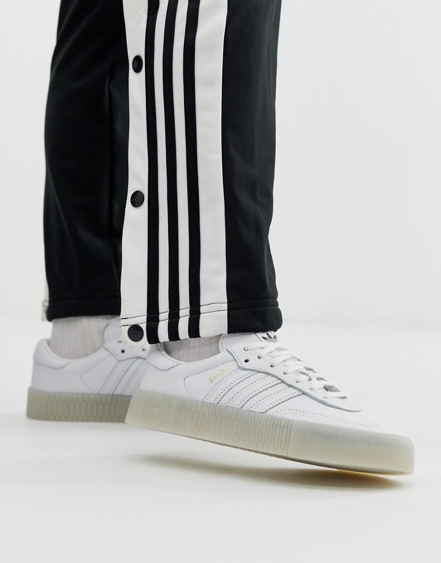 watch 7ec38 2acf2 adidas Originals Samba Rose Sneakers In Triple White in White - Lyst