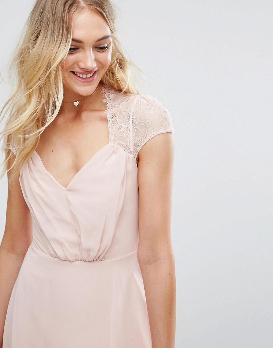 65b701e7e34ee Asos Tall Kate Lace Midi Dress   Saddha
