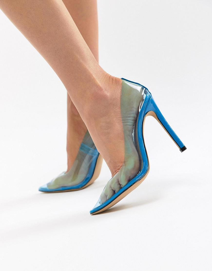 Public Desire Extra clear court shoes in blue clearance wiki CTA3d8df