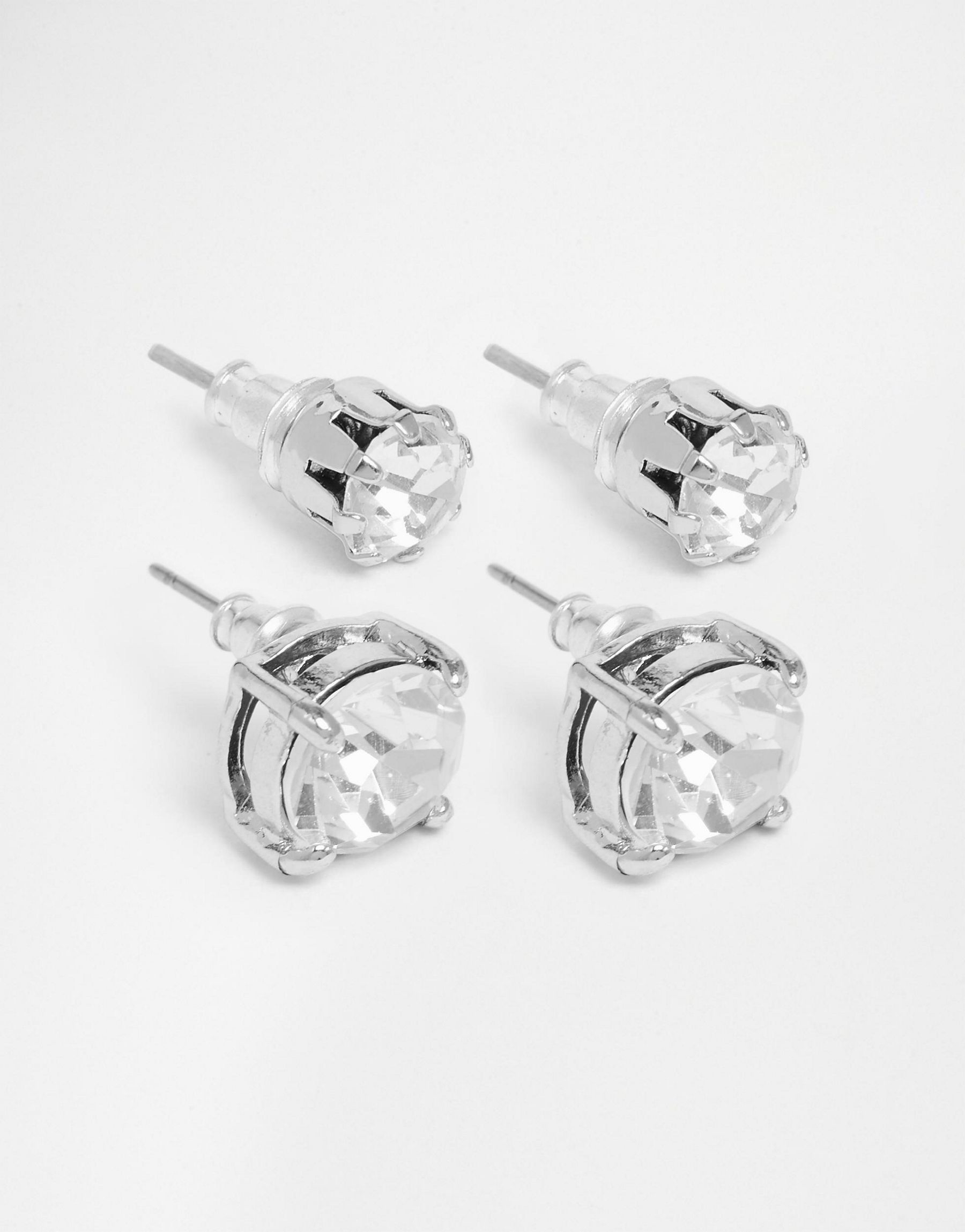 7dad16b63a0112 Lyst - ASOS Crystal Stud Earring Pack in Metallic for Men