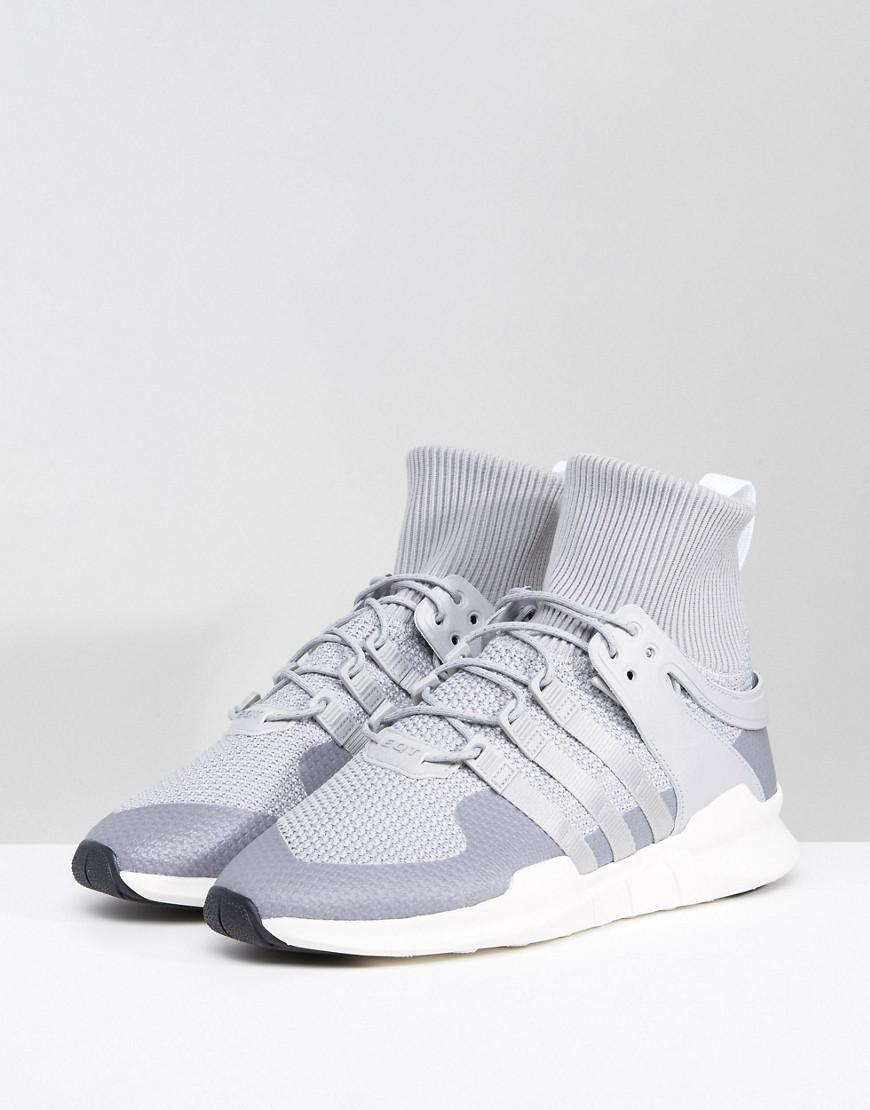 c22f93fd8 Lyst - adidas Originals Eqt Support Adv Winter Trainers In Grey Bz0641 in  Gray for Men