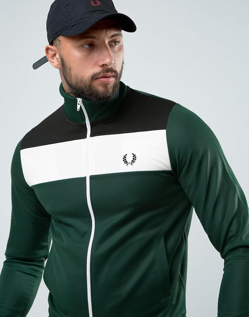 f6c61427057b Lyst - Fred Perry Sports Authentic Colour Block Track Jacket In ...