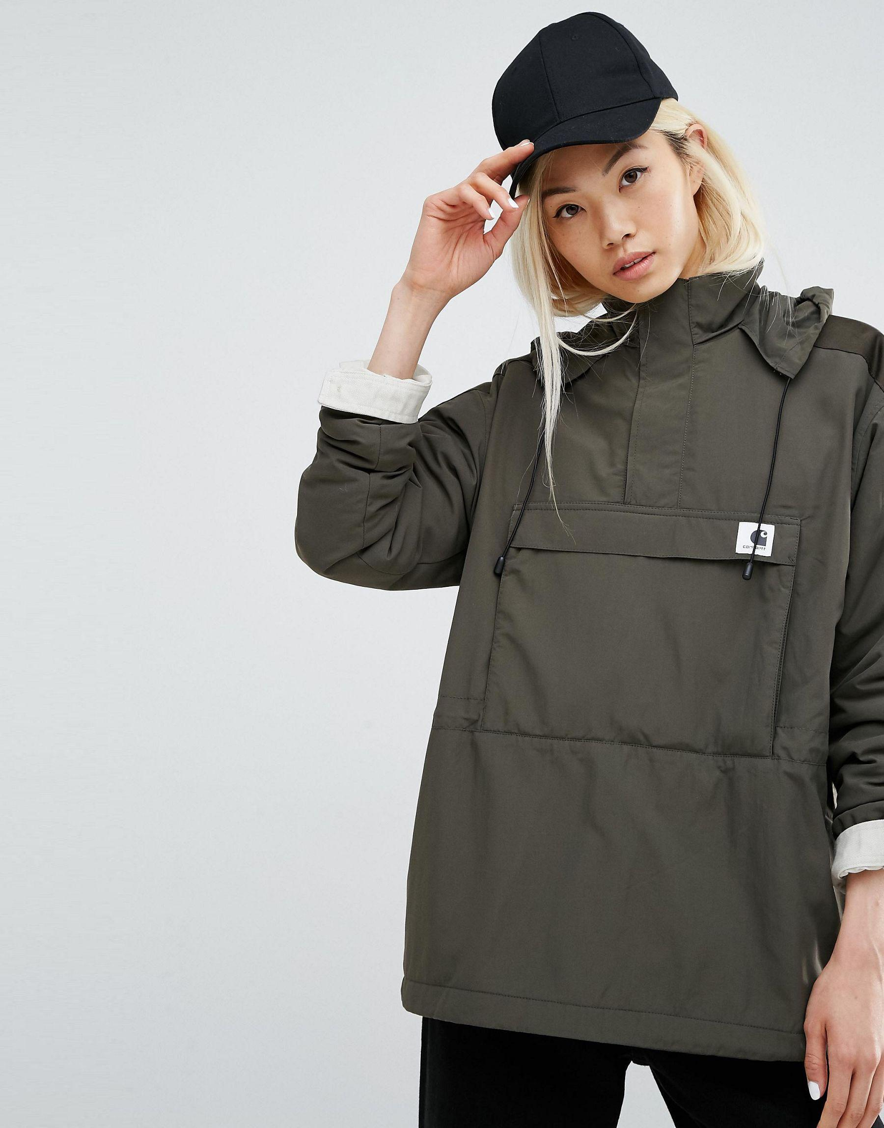 carhartt wip justine pullover jacket with half zip. Black Bedroom Furniture Sets. Home Design Ideas