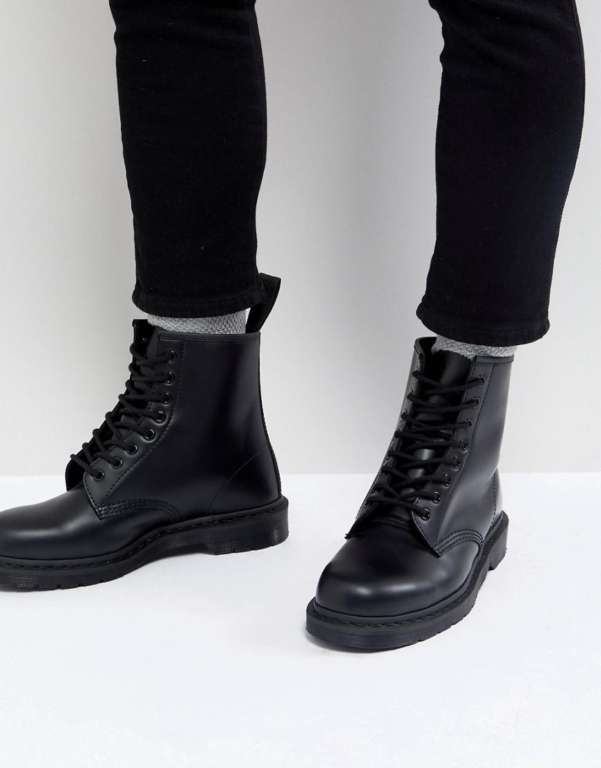 e865b2519938 Dr. Martens - 1460 Mono 8-eye Boots In Black for Men - Lyst. View fullscreen