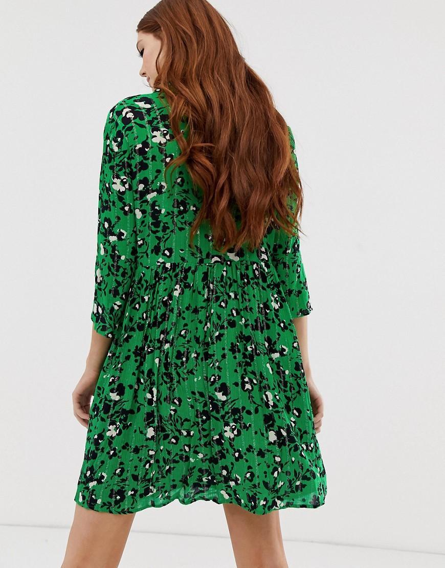 0f61618247f Ba sh Erine Mini Shirt Dress in Green - Lyst