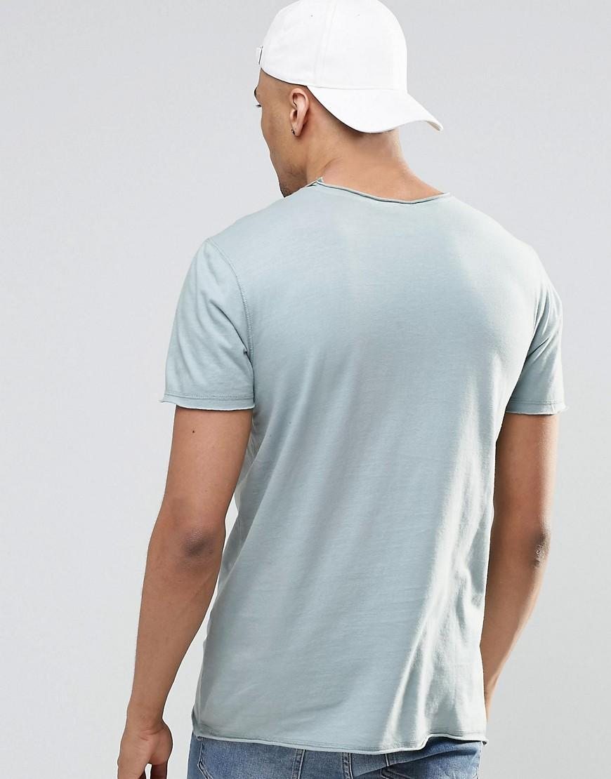 Lyst New Look T Shirt In Washed Blue Blue In Blue For Men