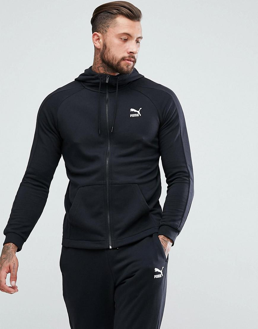 Lyst Puma Skinny Fit Tracksuit Set In Black Exclusive To