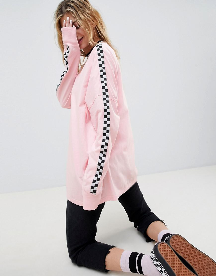 1714fe474c3f6e Vans X Lazy Oaf Checkerboard Long Sleeve T-shirt in Pink - Lyst