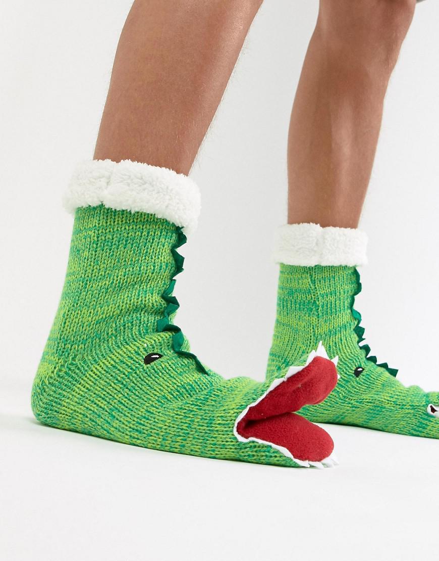 ASOS Slipper Socks In Dinosaur Design With Opening Mouth   Fluffy ... 6fc4dabbc5e