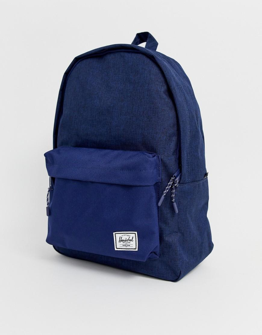 52a6f2f4d16 Herschel Supply Co. Classic 24l Backpack In Crosshatch Navy in Blue ...