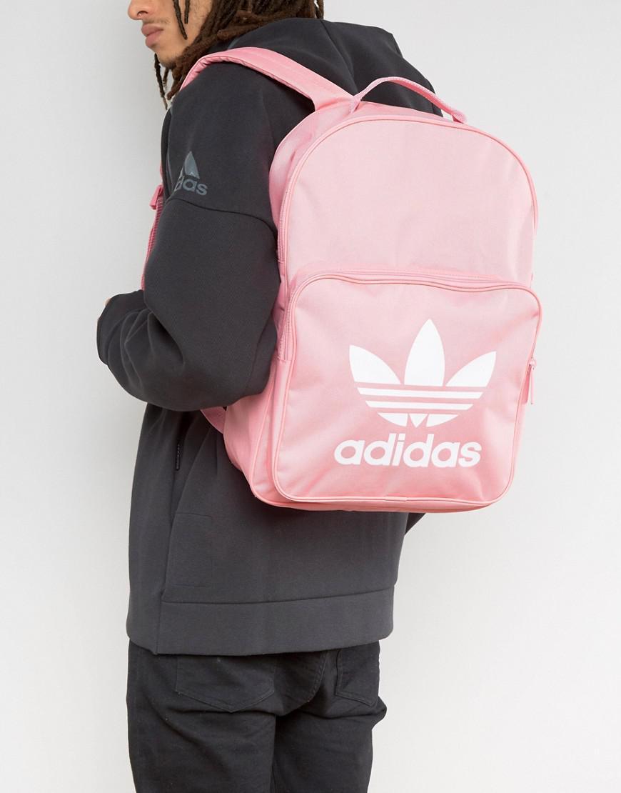 c80341e5e052 Lyst - adidas Originals Trefoil Backpack In Pink Bk6725 in Pink for Men