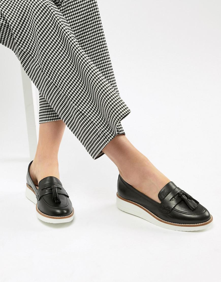 faa2dea7b64 Lyst - ALDO Leather Chunky Sole Tassel Loafers in Black