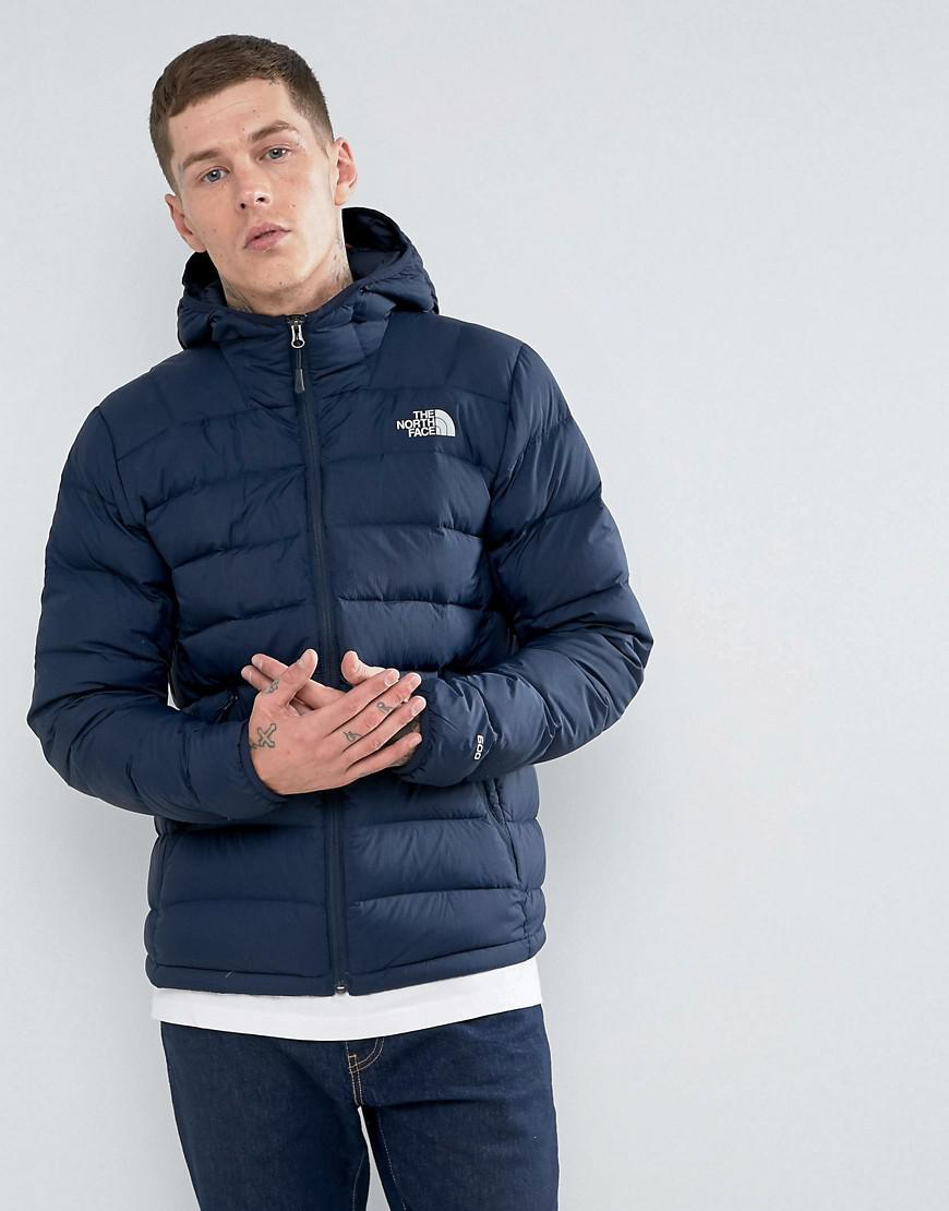 f8821e93fa0a ... where to buy the north face la paz down hooded jacket in navy in blue  for