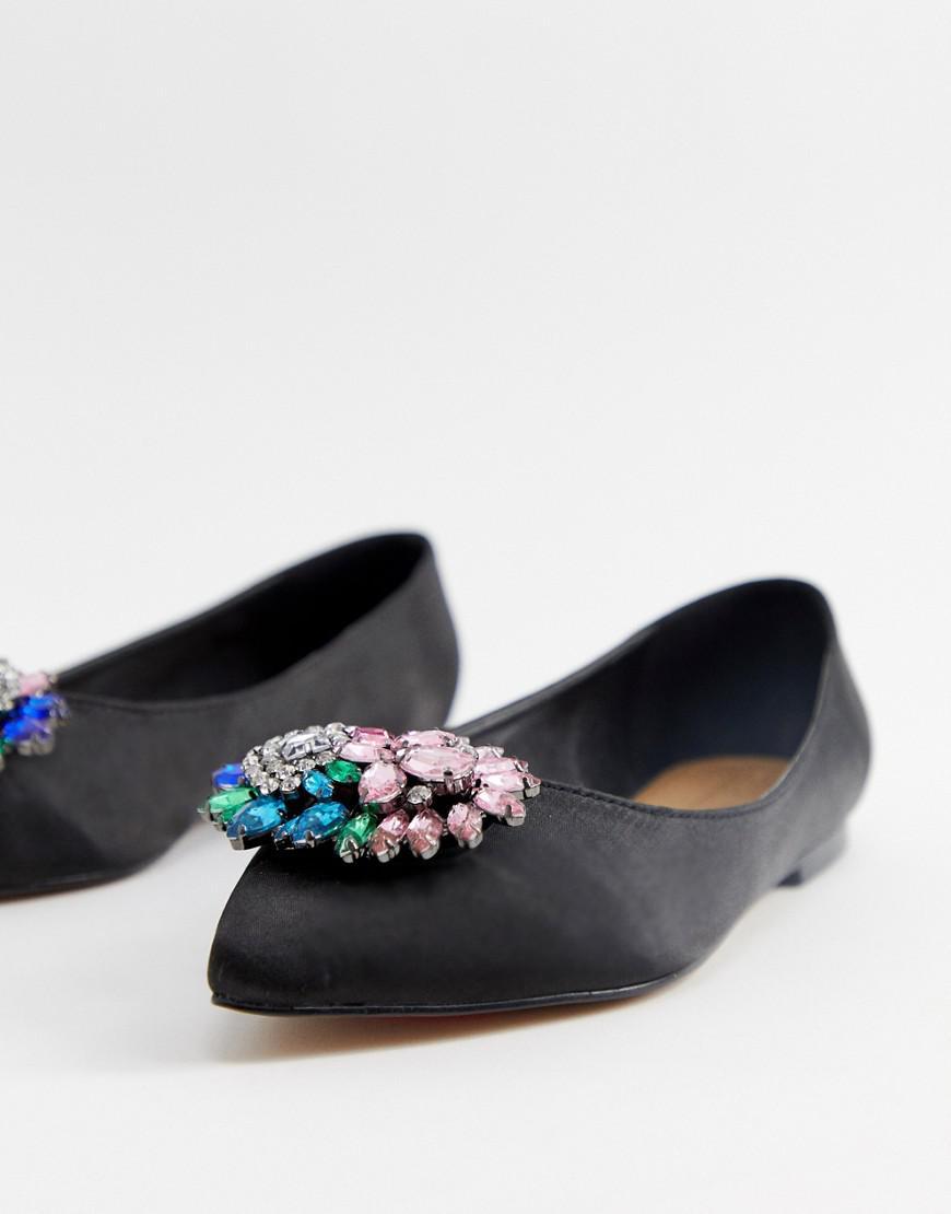 c42018af2c0 Lyst - Asos Wide Fit Variety Embellished Ballet Flats in Black