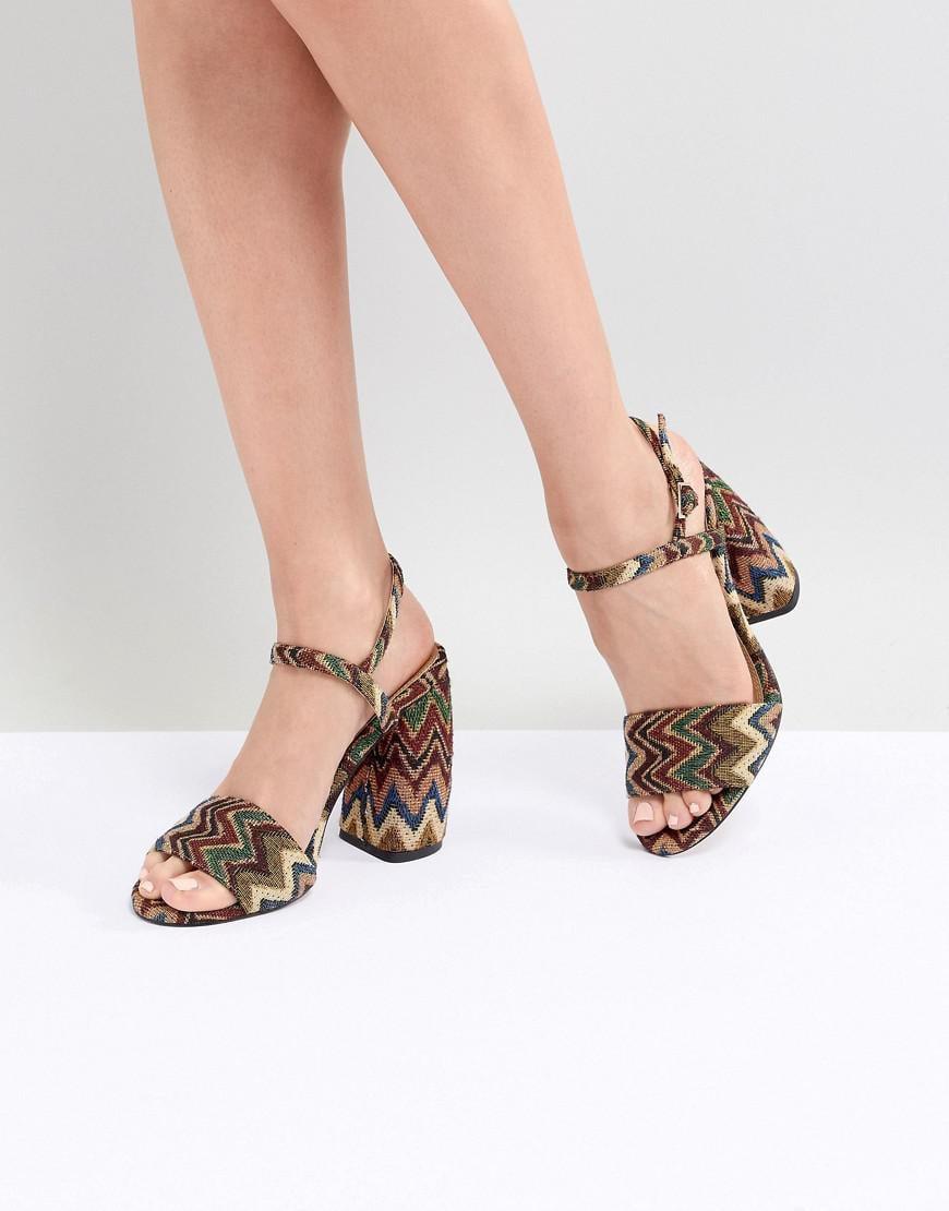 e34da60b021 Lyst - ASOS Hamish Woven Heeled Sandals