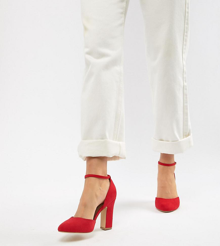 db2b45f6e0 New Look Round Toe Heeled Shoe in Red - Lyst