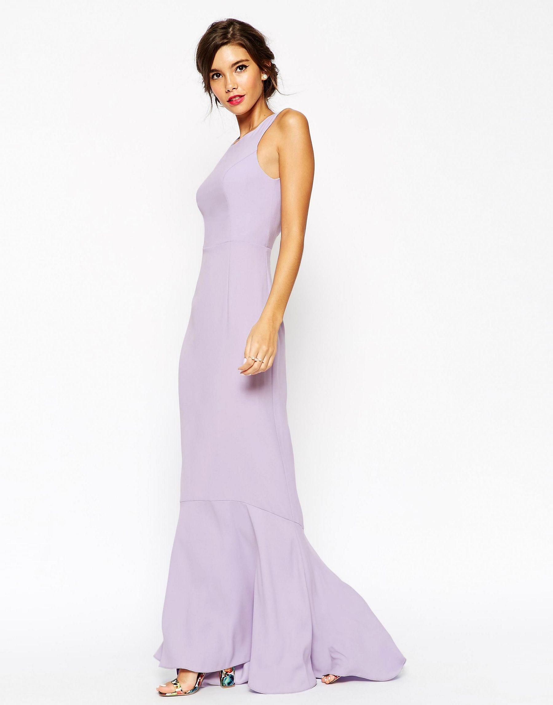 Lyst Asos Petite Wedding Maxi Dress With Fishtail In Pink