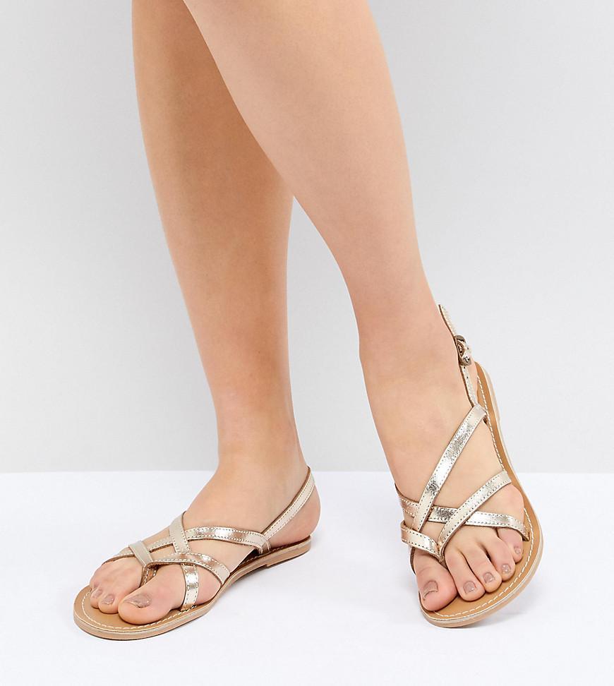 b72b4dc7af7216 London Rebel Flat Sandals in Metallic - Lyst