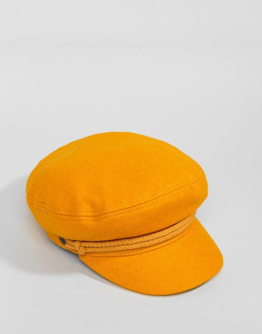 edf29f8198a Lyst - Brixton Baker Boy Hat In Mustard in Yellow