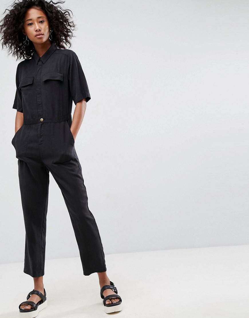 e2907bdbb17 Lyst - ASOS Design Casual Boilersuit in Black